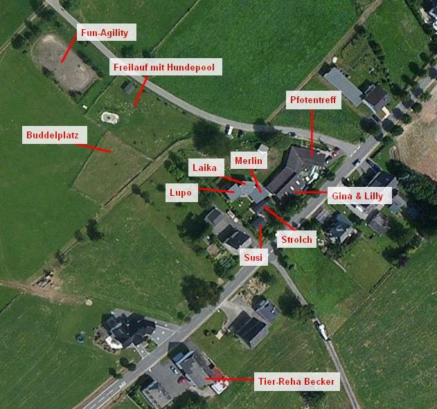 Übersicht der Ranch [Quelle: bing maps]